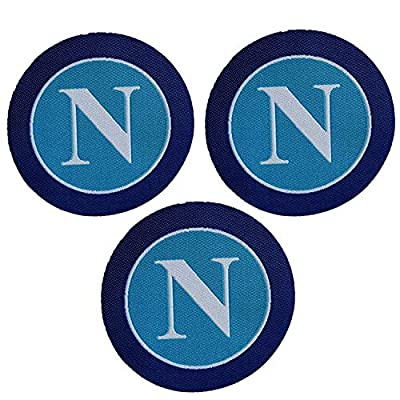 3 Pieces Soccer Team Napoli Patches Sew On/Iron On Football Club Emblem Sports Applique Accessories Decoration Patches for Jeans Jacket Clothing Handbag Shoes Caps