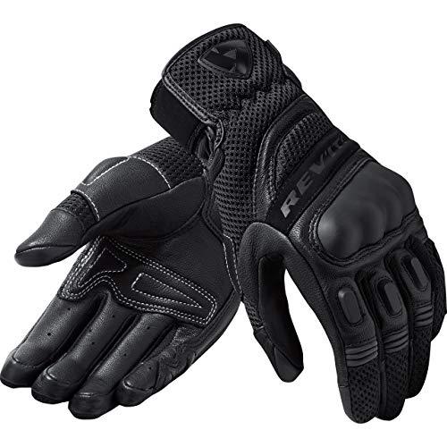 REV'IT! Motorradhandschuhe kurz Motorrad Handschuh Dirt 3 Damen Handschuh schwarz L, Enduro/Adventure, Ganzjährig, Leder/Textil