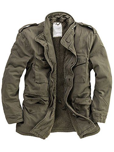 DELTA Industries Herren M65 Vintage US Fieldjacket Paratrooper, Oliv, S