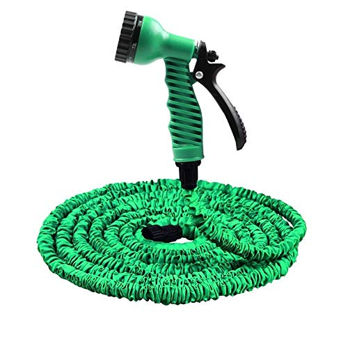 Hot Selling 25FT-100FT Tuinslang Expandable Magic Flexible Waterslang EU Slang Plastic Slangen Pijp Met Spuitpistool Watering (Color : Green, Size : 50ft)