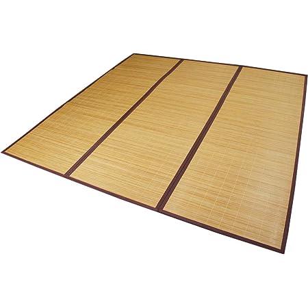 ひんやり涼感竹ラグ 「クールバンブー」 180x240cm コンパクト折畳タイプ 【不織布貼】