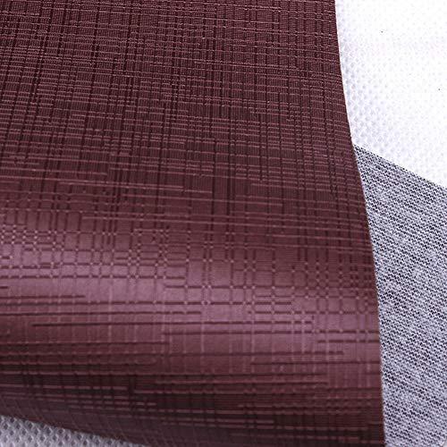 MAGFYLY Cuero Material Vinilo de Cuero sintético Tapicería Cuero sintético Suave Cuero sintético, for Tapizar Tela de Imitación de Cuero