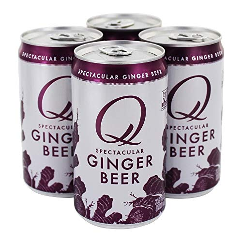Q Mixers, Soda Ginger Beer, 7.5 Fl Oz Cans, 4 Pack