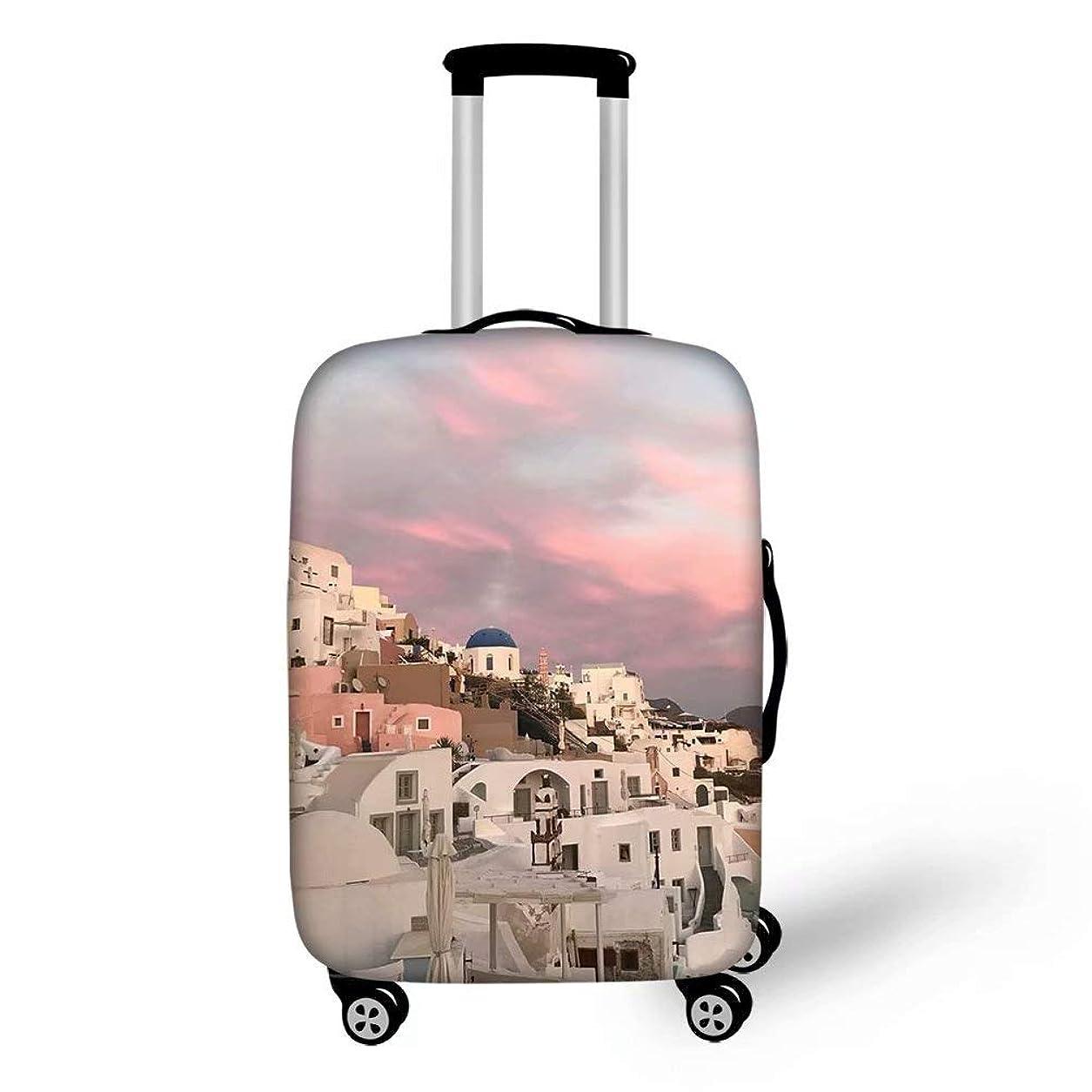 計算可能ヒール迷路Ledback スーツケースカバー 伸縮素材 ヨーロッパ風景 英国風 S/M/Lサイズ ラゲッジカバー 個性的 防塵 防水 洗える 旅行者 キャリーカバー おしゃれ 保護 トランクカバー