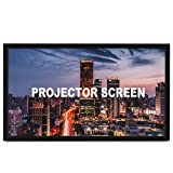 Techlifer Projection Screen 130' 16:9 Fixed Frame Projector Screen HD 4K Home Theatre 3D(130inch)