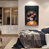 Geiqianjiumai Cartel de Arte nórdico decoración Familiar Mural Lienzo impresión Sala de Estar impresionismo Moderno Retrato Pintura sin Marco 40X50 cm