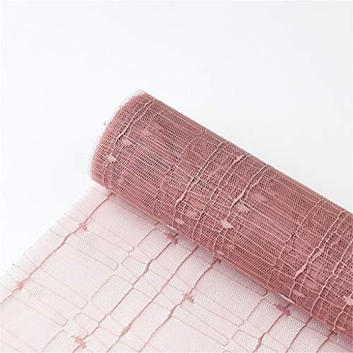 Handgemaakte materialen, bloemen verpakking mesh bruiloft accessoires gestippelde patronen gaas ontwerp 179,9 inch kan vrij gesneden worden. 50 * 457CM C
