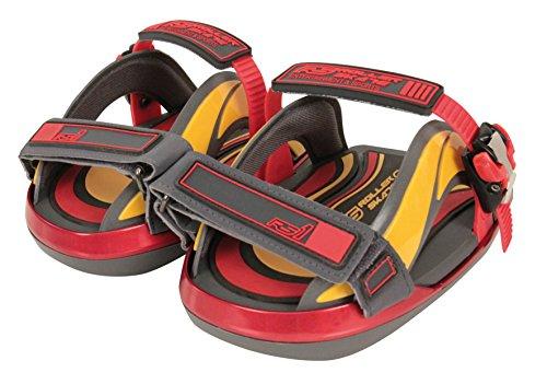 RS1 Pocket Roller Rollschuhaufsätze für Schuhe rot Gris/Rouge/Jaune 38,5-42