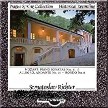 Mozart: Piano Sonatas Nos. 8, 15 / Allegro, Andante No. 14 + Rondo No. 8 Prague Spring Collection