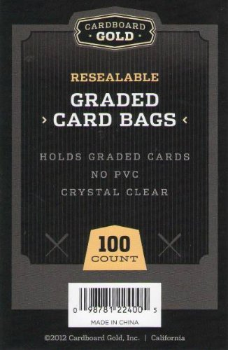 Price comparison product image Cardboard Gold (1pk of 100) CBG Graded Card Pro Sleeves Next Generation Archival Protection PRO Sleeves Keeps Graded Sports and Gaming Cards Ultra Protected