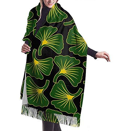 Elaine-Shop Ginkgo Biloba Casual Schal Schal Kaschmir Winter Schal Für Frauen Männer
