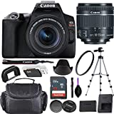 Canon EOS Rebel SL3 DSLR Camera (Black) + EF-S 18-55mm f/4-5.6 is STM Lens Bundled with Premium Accessories (32GB Memory Card, Padded Equipment Case and More.)