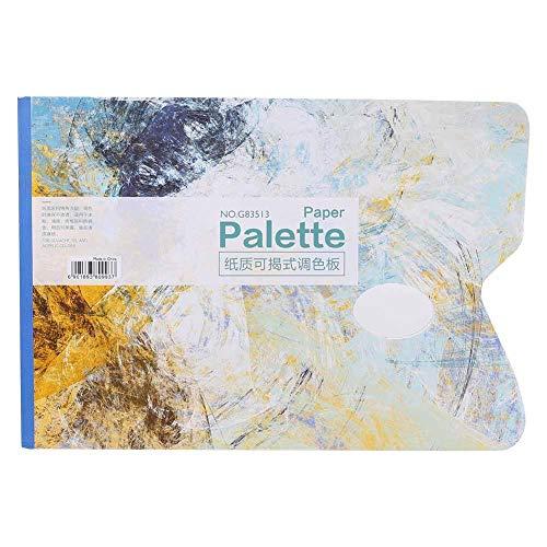 Paleta desechable, 25 Hojas Paleta desechable A4 Almohadilla de Paleta de Pintura al óleo Profesional de Gouache Papel de Paleta Blanca para Gouache/Pintura al óleo/Pintura acrílica