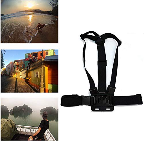 Navitech Adjustable Elastic Body Harness Strap = Compatible with The GoXtreme Blackhawk 4K + Action Camera