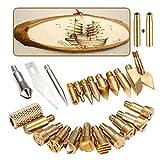 Set di 25 punte professionali per legno in rame, per saldatura, accessori per lavori in pelle, artigianato e intaglio