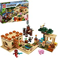 LEGO Minecraft - La Invasión de los Illager, Juguete de Construcción Basado en el Videojuego, Set para Recrear las Aventuras de Minecraft (21160)