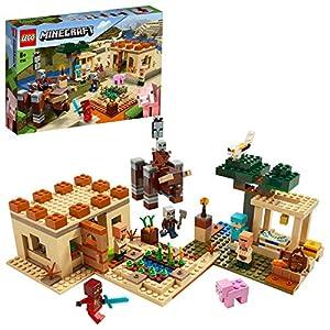LEGO Minecraft - La Invasión de los Illager, Juguete de Construcción Basado en el Videojuego, Set para Recrear las Aventuras de Minecraft (21160) , color/modelo surtido