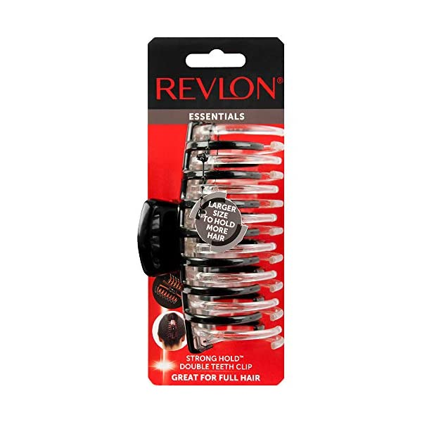 Beauty Shopping Revlon Strong Hold Hair Claw Clips, 2 Count