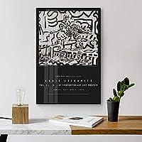 北欧ブラックホワイトフィギュアーウォールアートポスターとプリントキャンバス絵画クリエイティブ装飾画像リビングルームモドレン壁画30x45cmフレームレス