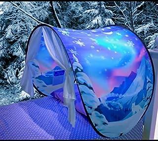 Tienda de Campaña Infantil, Gesundhome Mundo Mágico Carpa de Ensueño Pop Up Dream Tents Casa de Juego para Niñosn Regalo de Navidad y Cumpleaños - Twin Tamaño (Winter Wonderland)