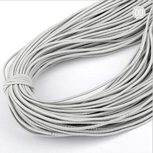 Hoge 20yards 1 mm Aantal elastische band om haarkleur elastiek strekt de rubberen band line DIY naaiaccessoires,09 grijs,20 yards