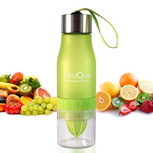 Botella deportiva para agua con sabor a frutas, manija de agarre segura, tapa de seguridad