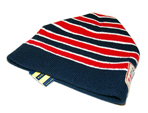 Ralph Lauren Rugby Mens Women Polo USA Lambswool Skull Knit Cap Ski Hat Navy Red