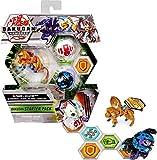 Bakugan Pack de iniciación con 3 Armored Alliance Bakugan (Ultra Fharol x Gillator, Basic Garganoid x Webam, Basic Sabra x Krakelios)
