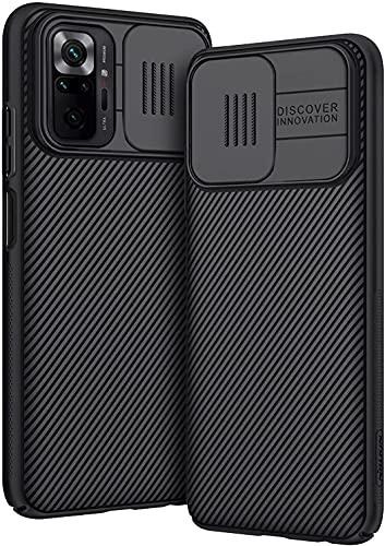 AROYI Funda Compatible con Xiaomi Redmi Note 10 Pro/Xiaomi Redmi Note 10 Pro MAX 6,67 Pulgadas, Tapa Deslizante para la cámara - Negro