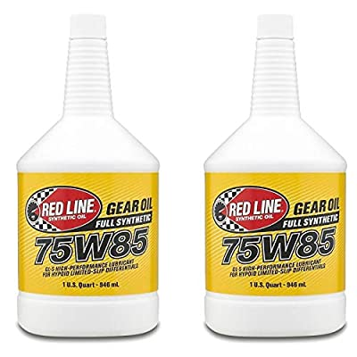 Red Line 50104 75W85 Performance Lightweight Synthetic Gear Oil Fluid (2 Quarts)