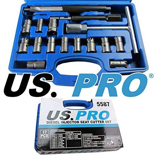US PRO Gereedschap 17 stuks Diesel Injector Zitmaaier Set 5587