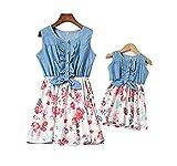 Loalirando Madre e Hija Vestidos de Verano Estampado Floral Vestidos Familiares...