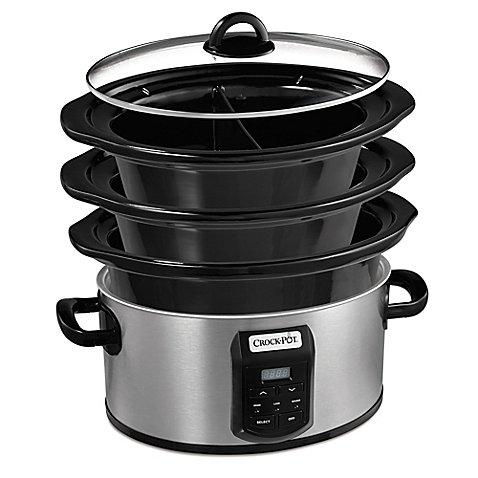 Crock-pot SCCPVS642-S Choose-A-Crock Programmable Slow Cooker, 6 quart/4 quart/2 x 1.5 quart, Silver