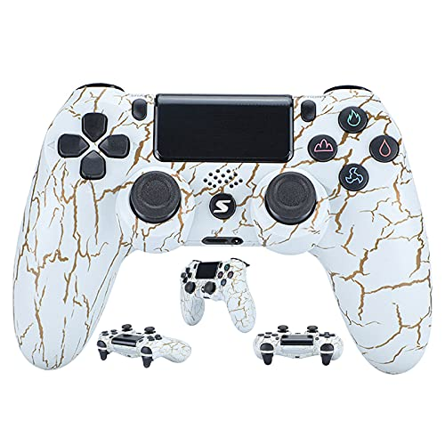 Wireless Controller für PS4 Slim/PS4 Pro, USB Controller für PC, Bluetooth Gamepad for PS4 Touch Panel Joypad with Dual Vibration Game Remote Control Joystick