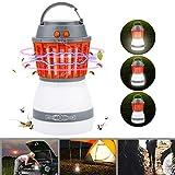 Bawoo Campinglampe UV Licht Insektenvernichter Mückenkiller Camping Lantern IP67 wasserdicht tragbar Mückenvernichter Zeltlampe USB Wiederaufladbar für Innen und Außen