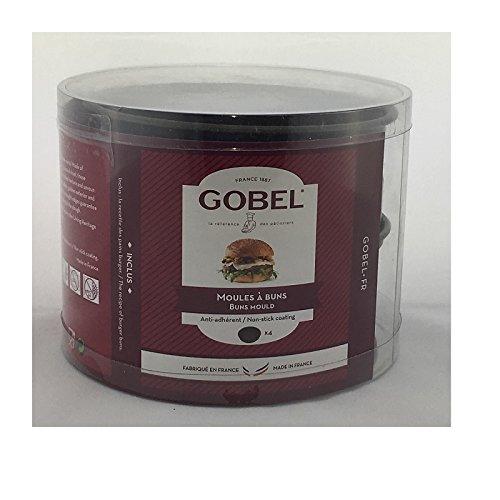 Gobel - 282580 - Lot DE 4 MOULES A Buns Anti-Adherent DIAMETRE 10 CM