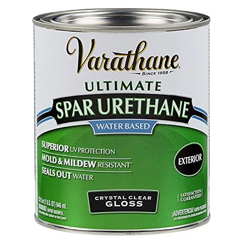 Rust-Oleum 250041H Ultimate Spar Urethane Water Based, Quart, Gloss Finish