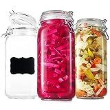 Best Glass Jars - DilaBee Glass Storage Jars - Clear Glass Jars Review