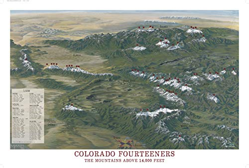 Colorado 14ers Map