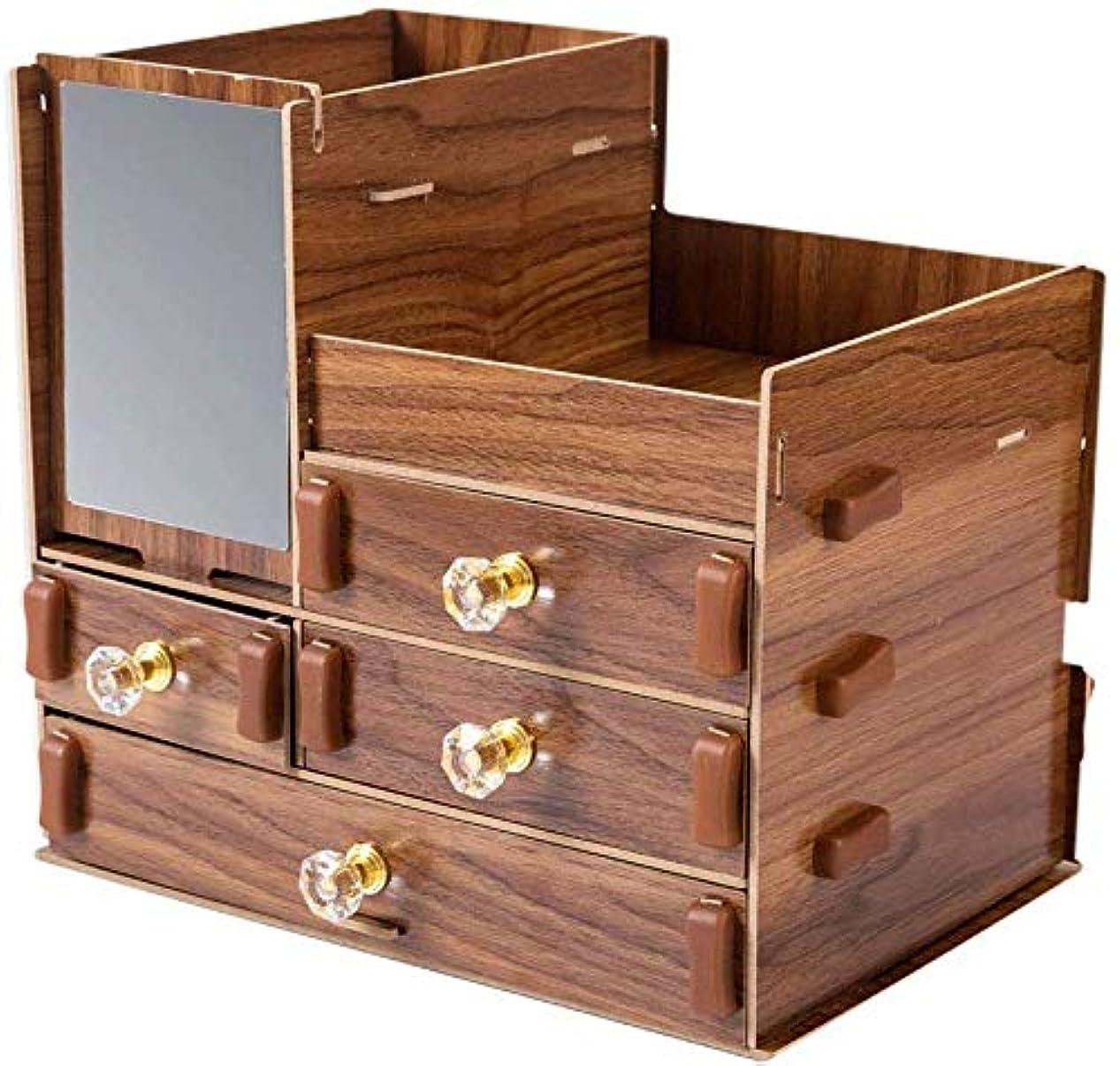 暖かくパールプーノ化粧品収納ボックスホームコンプレッションプレートデスクトップ大容量化粧品収納ボックス