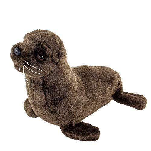 Teddys Rothenburg Seelöwe Dunkelbraun 25 cm Plüschseelöwe Robbe Kuscheltier Stofftier Baby Kinder Spielzeug Plüschtier
