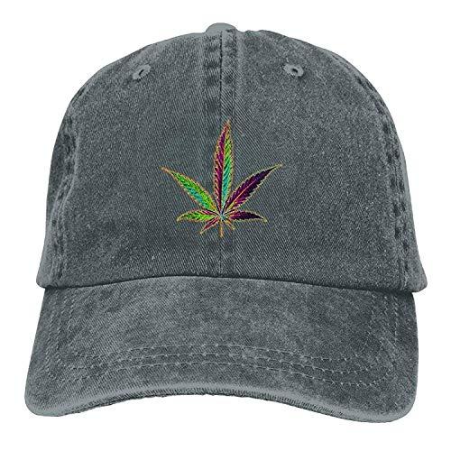 Preisvergleich Produktbild Presock IEHFE Men Women Classic Denim Cannabis Leaf Adjustable Baseball Cap Dad Hat Low Profile Perfect for Outdoor