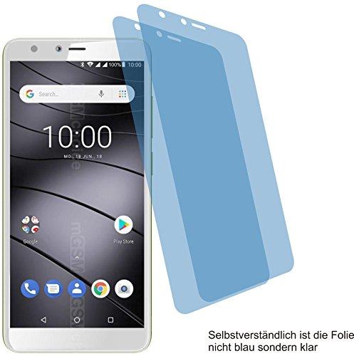 2X Crystal Clear klar Schutzfolie für Gigaset GS100 Bildschirmschutzfolie Displayschutzfolie Schutzhülle Bildschirmschutz Bildschirmfolie Folie