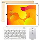 Tablette Tactile 10 Pouces 4G WiFi Doule SIM, Tablettes Android 9.0 avec Clavier 3Go de RAM 32Go ROM, 8000mAH Quad Core Écran HD Double Caméra, Bluetooth, GPS, OTG