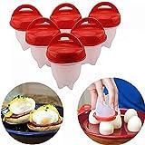 Caldera de huevo sin cáscara, cocina antiadherente de silicona para calderas de huevos, escalfador de huevos con soporte, olla de huevo para accesorios de cocina