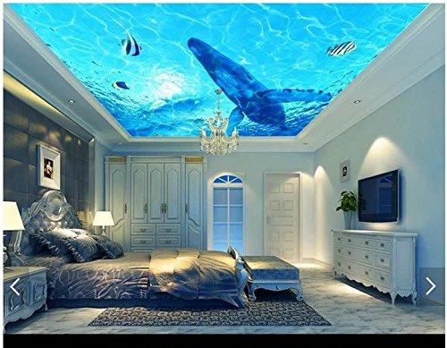 Mznm 3D Tapete 3D Deckentapete Wandbilder Hängende Decke Deko Malerei Wand Papier 3D Wohnzimmer Fototapete 120x100cm