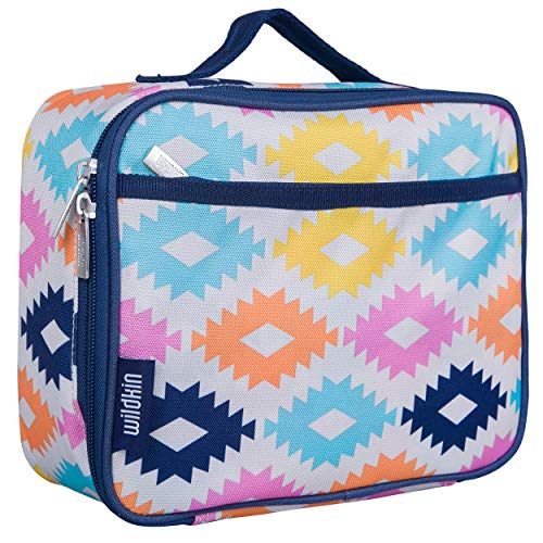 Wildkin Kids Insulated Lunch Box Bag for Boys and Girls, Perfect Size for Packing Hot or Cold Snacks for School & Travel, Measures 9.75 x 7.5 x 3.25 Inches, Mom's Choice Award Winner (Aztec)