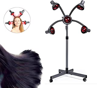 Drying Hood,Vertical Hair Processor,Five Lamp Holders,Infrared Hair Dyer,Hair Dryer,with Rotating Base,Height and Time Adjustment,Suitable for Salon Beauty Salons