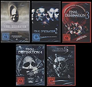 Final Destination 1+2+3+4+5 DVD UNCUT FSK 18 Edtion Set