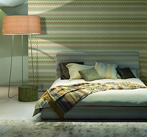 Carta Da Parati Missoni Home by Jannelli M1A10065 Chevron Zig Zag Design